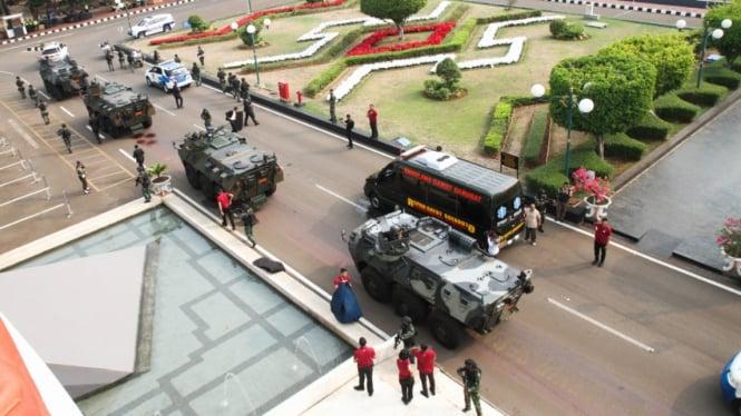 Simulasi Pengamanan Pelantikan Presiden dan Wakil Presiden