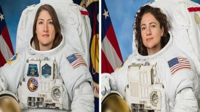 Dua Astronaut perempuan, Christina Koch dan Jessica Meir