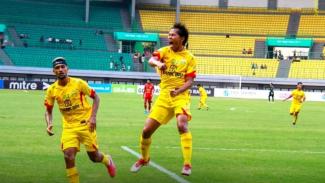 Selebrasi para pemain Bhayangkara FC