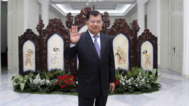 Jusuf Kalla saat pensiun sebagai Wakil Presiden RI.