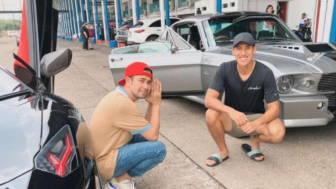 Raffi Ahmad dan Sean Gelael