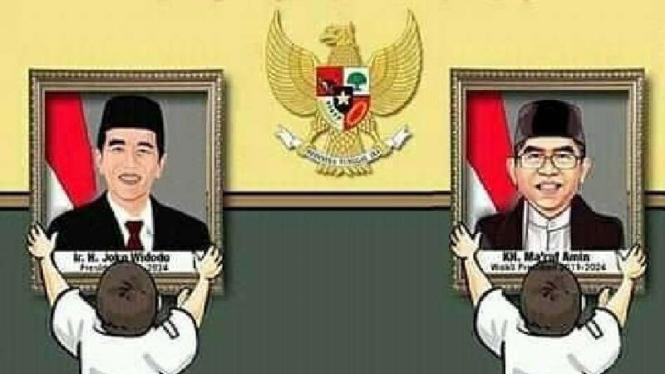 Jokowi dan Ma'ruf Amin.