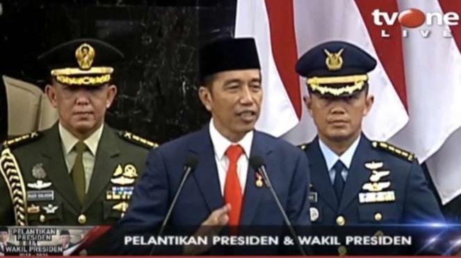 Pidato perdana Presiden Jokowi di MPR sebagai Presiden periode 2019-2024