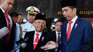 Presiden Joko Widodo bersama Wakil Presiden Ma'ruf Amin.