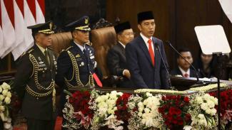 Presiden Joko WIdodo di Gedung DPR/MPR RI, Jakarta, Minggu, 20 Oktober 2019.