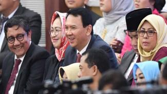 Mantan Gubernur DKI Jakarta Basuki Tjahaja Purnama (Ahok) menghadiri pelantikan