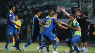 Selebrasi gol para pemain Persib Bandung