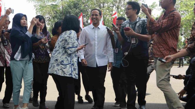 CEO Go-Jek Nadiem Makarim datang ke Istana