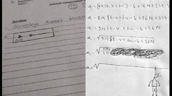 Jawaban ngawur saat ujian