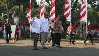 Prabowo Subianto ke Istana jelas pengumuman Kabinet.