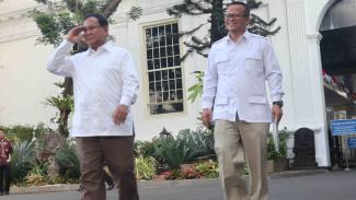Ketua Umum Gerindra Prabowo Subianto datangi Istana