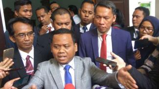 Saleh, kuasa hukum Imam Nahrowi, di Pengadilan Jakarta Selatan.