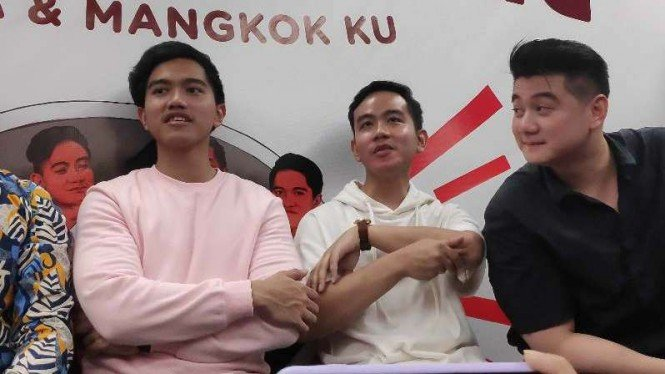 Gibran Rakabuming, Kaesang Pangarep dan Chef Arnold Purnomo.