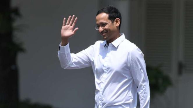 Nadiem Makarim datang ke Istana Kepresidenan Jakarta