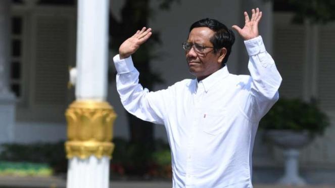 Mahfud MD datang ke Istana Kepresidenan Jakarta
