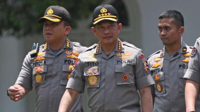 Kapolri, Jenderal Pol Tito Karnavian datang ke Istana Kepresidenan Jakarta