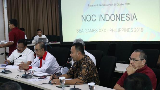 Rapat koordinasi kontingen SEA Games 2019 di Manila, Filipina