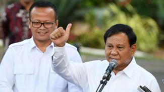 Prabowo Subianto datang ke Istana Kepresidenan Jakarta