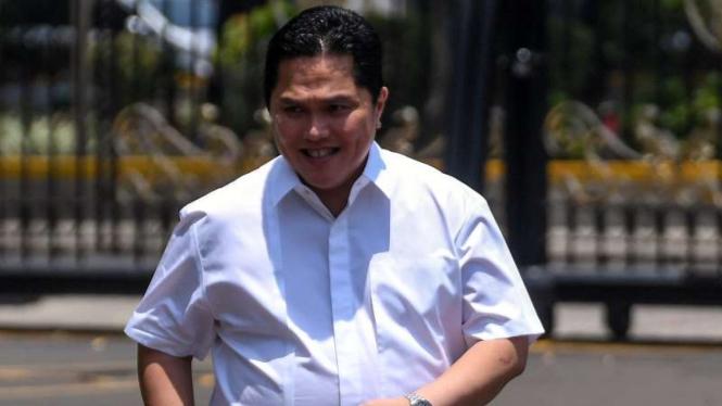 Erick Thohir datang ke Istana Kepresidenan Jakarta