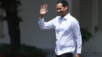 Driver Ojol Bakal Demo Nadiem Jadi Menteri, Jokowi Jangan Silau Label Decacorn Gojek. (FOTO: Wahyu Putro A)