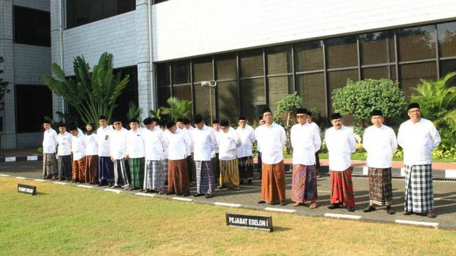 Upacara Hari Santri di Kementerian Agama