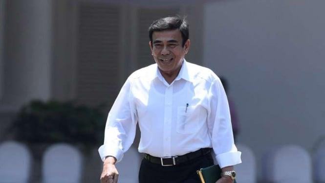 Menteri Agama (Menag) Fachrul Razi di Istana Kepresidenan Jakarta.