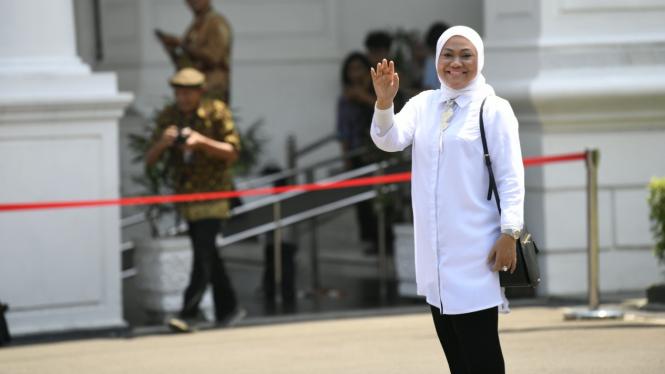 Ida Fauziah di Istana Kepresidenan Jakarta