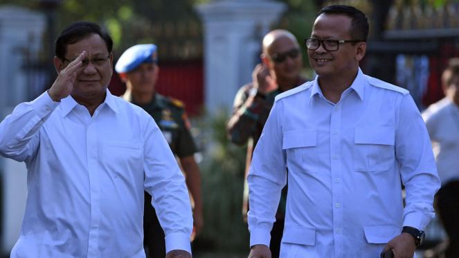 Edhy Prabowo (kanan) saat bersama Prabowo Subianto beberapa waktu lalu.