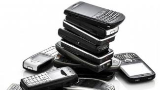 Ilustrasi beragam ponsel.