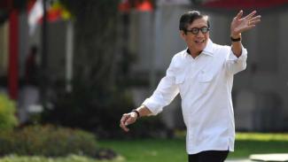 Yasonna Laoly di Istana Kepresidenan Jakarta