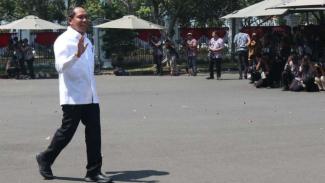 Politisi Partai Golkar, Zainudin Amali saat berada di Istana Negara.