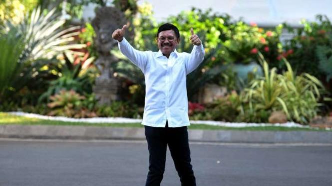 Johnny G Plate di Istana Kepresidenan Jakarta