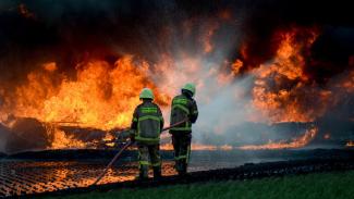 Kebakaran Pipa Minyak Pertamina di Cimahi