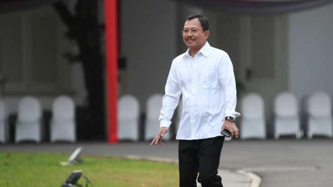 Menkes Terawan Agus Putranto di Istana Kepresidenan Jakarta, Selasa, 22 Oktober 2019.