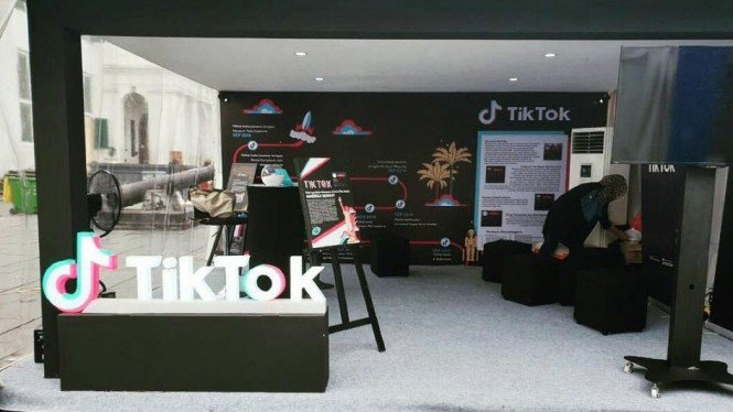 Booth TikTok Indonesia.
