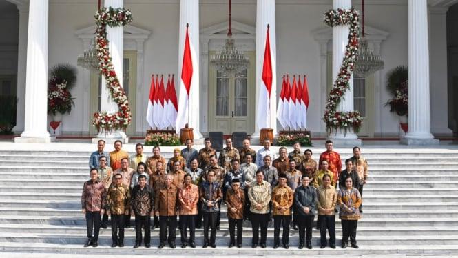Jokowi dan Menteri di Kabinet Indonesia Maju