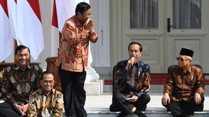 Mahfud MD, Menkopolhukam di Kabinet Indonesia Maju.