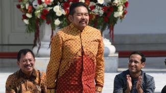 ST Burhanuddin diperkenalkan Presiden Joko Widodo sebagai Jaksa Agung.