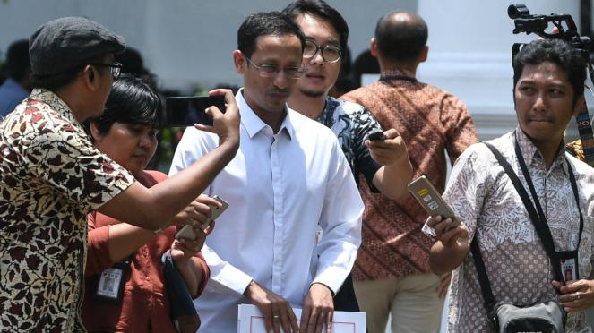 Mendikbud Nadiem Makarim di Istana Negara