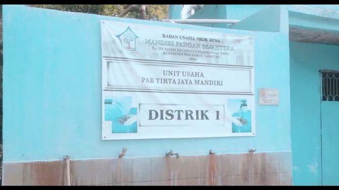 Unit usaha BUMDes Tirta Jaya Mandiri, Kampung Sri Rezeki.