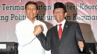Serah Terima Jabatan Menko Polhukam dari Wiranto ke Mahfud MD.