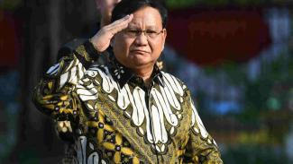 Menteri Pertahanan Prabowo Subianto di Istana Negara