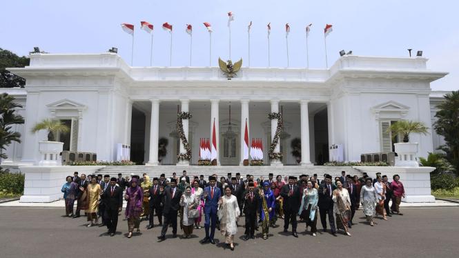 Jajaran Menteri Kabinet Indonesia Maju 2019-2024.
