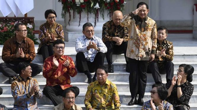 Jajaran Menteri Kabinet Indonesia Maju