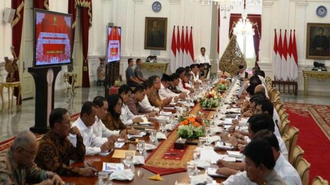 Rapat perdana Kabinet Indonesia Maju di Istana Merdeka, Jakarta