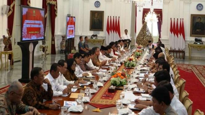 Rapat perdana Kabinet Indonesia Maju di Istana Merdeka Jakarta. (Foto ilustrasi)