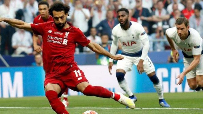 Winger Liverpool Mohamed Salah.