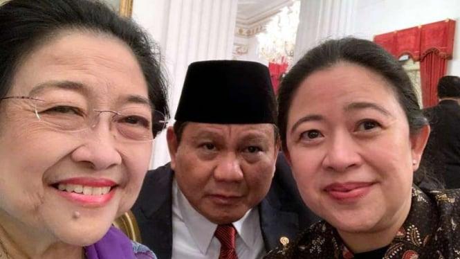 Megawati, Prabowo dan Puan Maharani