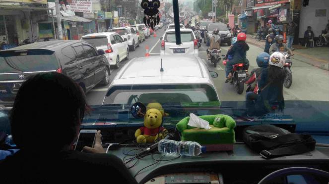 Uji coba sistem 2-1 di Puncak, Bogor, Jawa Barat