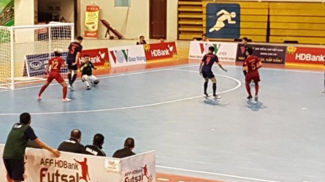 Timnas Futsal Indonesia Vs Thailand di Piala AFF 2019.